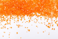 Pierres gemmes citrines oranges sur le fond blanc Image libre de droits