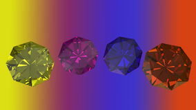 Pierres gemmes de diverses forme et couleur Photo libre de droits