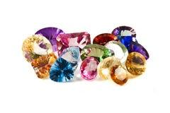 Pierres gemmes facettées Image libre de droits