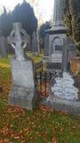 Pierres graves célèbres graves de l'Irlande de la mort Images stock