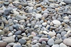 Pierres grises de différentes tailles, image stock