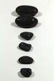 Pierres noires Images stock