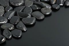 Pierres noires Photographie stock