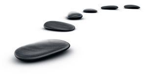 pierres noires illustration de vecteur