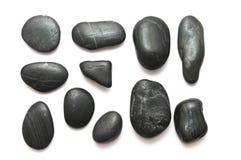 Pierres noires de caillou Photographie stock libre de droits