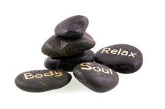 Pierres noires de massage Images stock