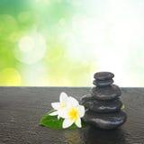 Pierres noires de zen Photos stock