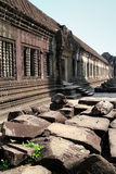 Pierres ruinées chez Angkor Wat Photographie stock libre de droits
