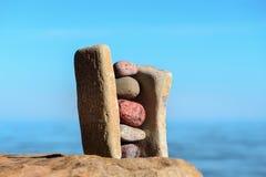 Pierres solides de pile Image stock