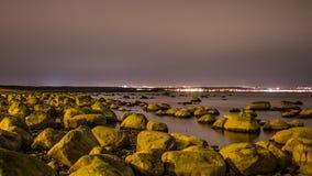 Pierres sur la côte de mer baltique Images libres de droits