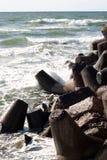 Pierres sur la plage Photos stock