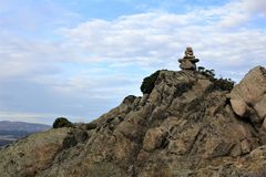 Pierres sur une montagne Image libre de droits