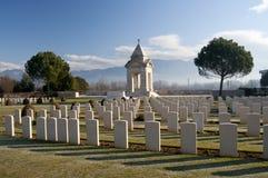 Pierres tombales dans le cimetière de guerre Photographie stock