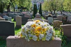 Pierres tombales dans un cimetière américain Photos stock