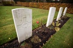 Pierres tombales de cimetière de guerre de chasse de Cannock photographie stock