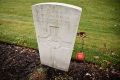 Pierres tombales de cimetière de guerre de chasse de Cannock images stock