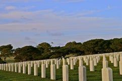 Pierres tombales de cimetière national Photo libre de droits