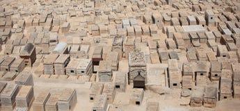 Pierres tombales de cimetière, le mont des Oliviers Images libres de droits