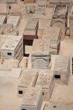 Pierres tombales de cimetière, olives de bâti, Israël Photos stock