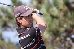 Pierrick Peracino bij de het golfuitdaging 2013 van Pleneuf Val Andre Royalty-vrije Stock Foto
