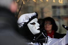 Pierrot during Carnival of Limoux Royalty Free Stock Image