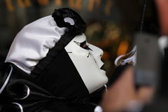 Pierrot during Carnival of Limoux Royalty Free Stock Photography