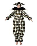 Pierrot Clown-Puppe - Harlekinchecks Lizenzfreies Stockbild