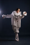 Pierrot costume.Isolated Royalty Free Stock Image