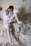 Pierrot costume.Isolated Stock Images
