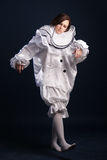 Pierrot costume.Isolated Royalty Free Stock Images