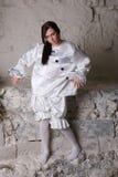 Pierrot costume. Royalty Free Stock Photos