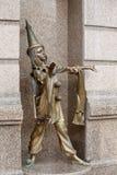 Pierrot de sculpture. Théâtre de marionnette de Kiev images libres de droits