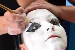 Pierrot eyes Royalty Free Stock Images