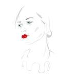 Pierrot Girl Fotografia Stock