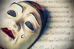 Pierrot maskering Royaltyfri Foto