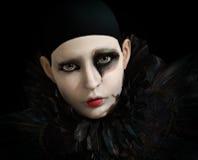 Pierrot nero, 3d CG Fotografia Stock