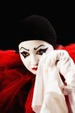 Pierrot pleurant Photos libres de droits