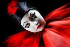 Pierrot Portrait Lizenzfreie Stockfotografie