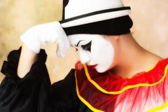 Pierrot triste Fotos de Stock Royalty Free