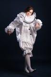 Pierrota kostium odosobniony obrazy royalty free