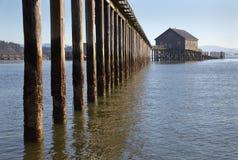 Piers End on Tillamook Bay in Garibaldi, Oregon Stock Image