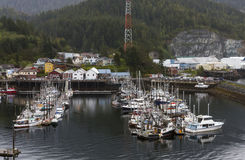 Piers Full of Fishing Boats Stock Image
