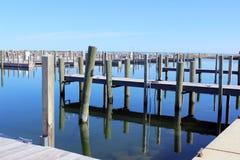 Piers Historical Fishtown Leland, Michigan Imagen de archivo