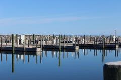 Piers Historical Fishtown Leland, Michigan Stock Photography