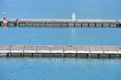 Piers of the marina Royalty Free Stock Image