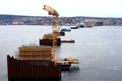 Piers under construction Royalty Free Stock Images