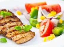 piersi kurczak piec na grillu warzywa Fotografia Royalty Free