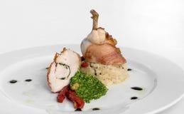 piersi kurczaka prosciutto zawijający Zdjęcia Royalty Free