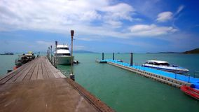 Pierwith bridge on the island of Koh Samui in stock video footage