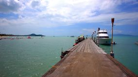 Pierwith bridge on the island of Koh Samui in stock footage